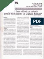 Rozada 1991 Sobre el desarrollo de un método para la enseñanza de las ciencias sociales