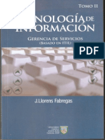Tecnología de Información Gerencia de Servicios (Basado en ITIL)