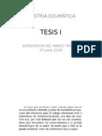Tesis i - Sustentacion de Marco Teroico