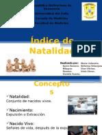 Indice de Natalidad (p)