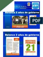 PRESENTACIÓN  DOS AÑOS de GOBIERNO POPULAR en SEVILLA la NUEVA
