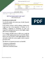 SAP Post Implementation Audit - Part 1 _ SCN