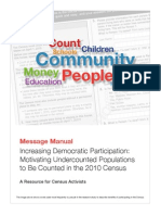 11-12-09 FINAL - Motivating Under Counted Populations to Be Counted in the 2010 Census Message Manual Final
