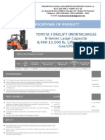 Ficha Tecnica Montacargas 8000 Lbs