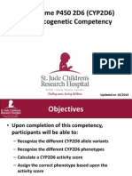 CYP2D6 Pharmacogenetic Competency