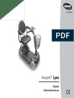 Manual de Usuario Del Scooter Invacare Lynx.