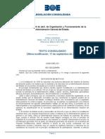 004 Ley 6 97 Organizacion y Funicionamiento Age Boe a 1997 7878 Consolidado