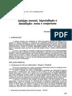 Inflação Inercial, Hiperinflação e Desinflação Notas e Conjecturas