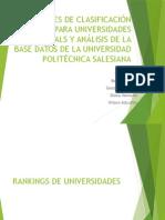 Rankings Universidades