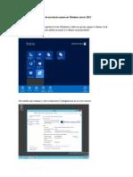 Escritorio Remoto en Windows Server 2012