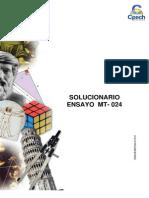 Solucionario Ensayo MT - 024 2015