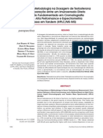 Importância Da Metodologia Na Dosagem de Testosterona