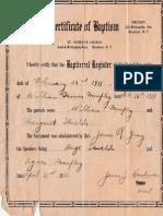 Grandfather William T. Murphy Baptism 1911