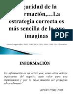 Congreso Internacional IS 2013 - Seguridad de Información.ppt