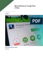 Cara Beli Aplikasi Berbayar Google Play Store Dengan Pulsa