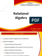 CPSC471 Relational Algebra Lecture Slides
