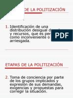 Etapas de La Politización