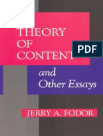 Fodor Jerry a Theory of Content and Other Essays 1992