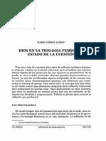 Gómez Acebo, I. Dios en La Teol. Feminista. Estado de La Cuestión