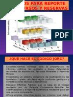 Códigos para REPORTE DE RECURSOS Y RESERVAS MINERALES.pptx