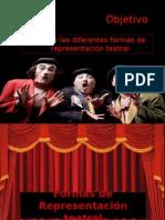 Formas de representación teatral