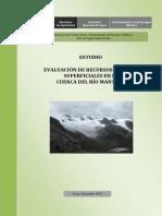 Evaluacion hidrologica Superficiales Rio Mantaro
