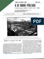 1898 Proyecto de Construccion Del Tercer Deposito de Madrid