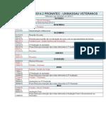 Calendário Turmas 2014.1 - 2014.2