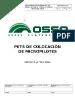 PETS - 202 Colocacion de Micropilotes