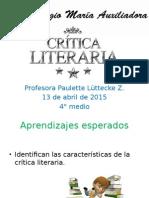 Crítica literaria ppt