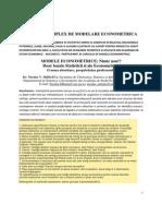 Proiect Complex modelare econometrica