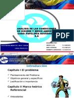 ANALISIS DE LAS CONDICIONES DE HIGIENE Y MEDIO AMBIENTE