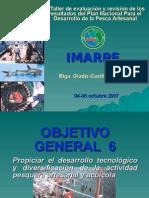 II Taller de evaluación y revisión de los resultados del Plan Nacional Para el Desarrollo de la Pesca Artesanal