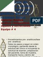 Recolección de Muestra y Control Pre-Analitico Del Análisis