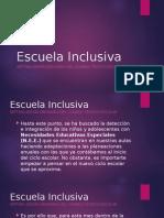 CTE - Escuela Inclusiva - Mayo