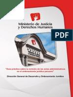 MINJUS - Guía Práctica Sobre La Revisión de Los Actos Administrativos en El Ordenamiento Jurídico Peruano - 2014
