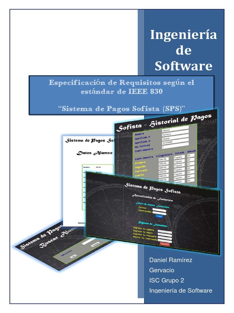 Especificación de Requisitos Sofista