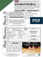 Faith Christian Church Burlington NC June 2015 News