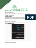 Taller de Electrónica 2012
