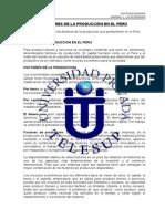 1.1. Factores de La Producción en El Perú