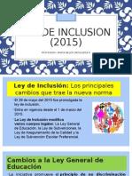 Ley de Inclusion 2015