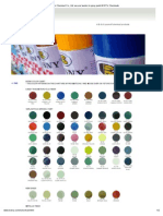Bosny Color Chart (Regular Colors)