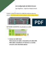 Procedimentos Para Configuração Do Radio Ericsson.