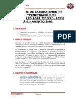 Penetracion en Materiales Asfalticos