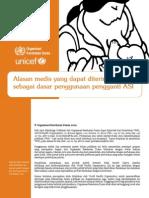 19 Alasan Medis Produk Pengganti ASI UNICEF