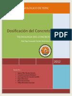 Dosificación Del Concreto-tepic