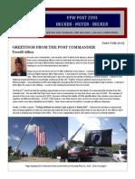 VFW Post 2593 Newsletter - Jun/Jul 2015