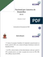 PNAD Apresenta o Da Pesquisa Nacional Por Amostra de Domic Lios 12 de Abril de 2010