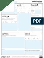 Editable Meeting Facilitator Canvas - Sample