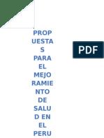 ESQUEMA PROPUESTAS SALUD